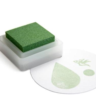 Stempelkussen sage (groenig) mini