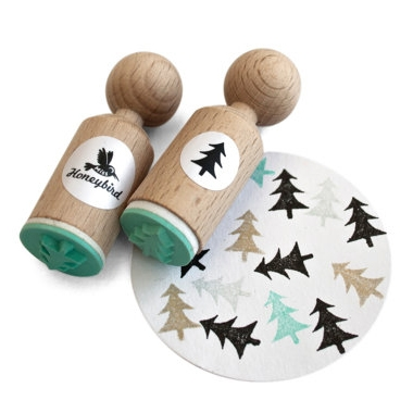Ministempel kerstboom, Miss Honeybird