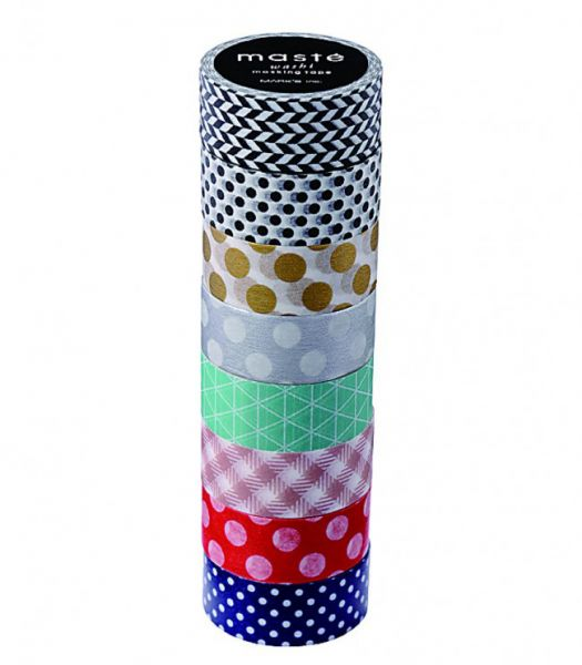 Masking tape set Pattern Mix 4