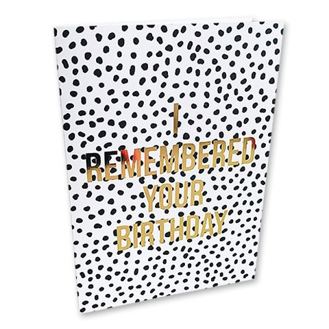 Remembered your Birthday kaart Studio Stationery