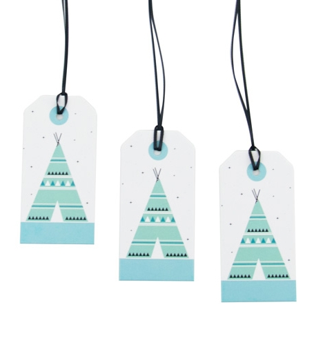 Tags/labels wigwam, Sparkling Paper