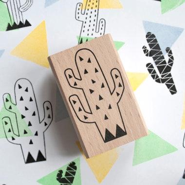 Cactus stempel driehoek (groot), Miss Honeybird