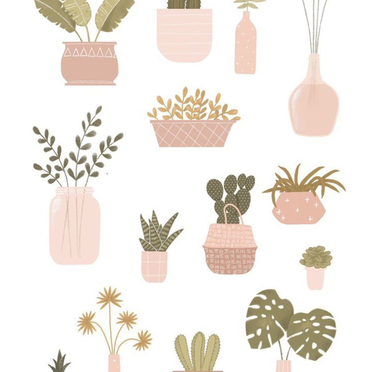 Planten poster A4, Minimel