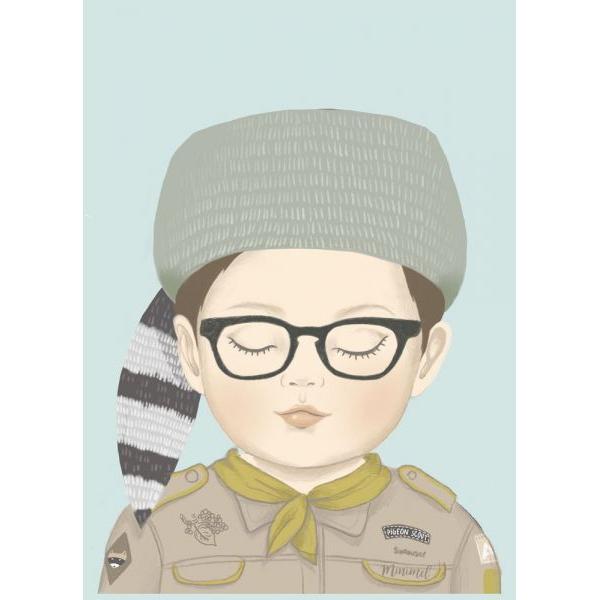 A4 poster scout Sam, Minimel