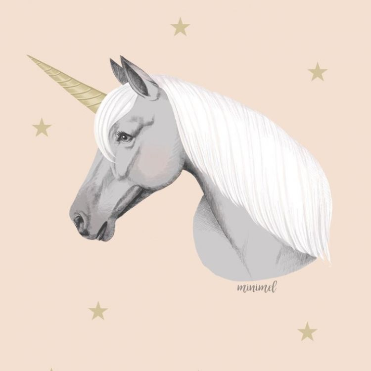 A3 poster, eenhoorn of unicorn, Minimel