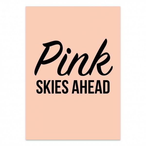 Kaart Pink skies ahead