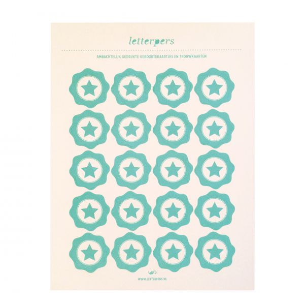 Sticker mint ster Letterpers