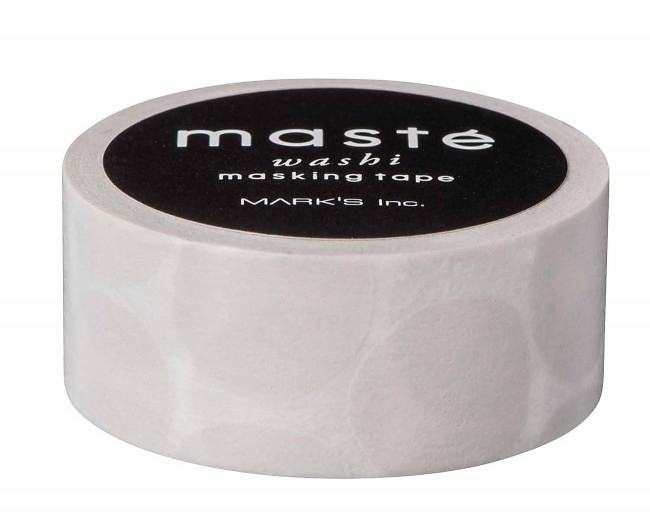 Grijs maskingtape dots, Masté