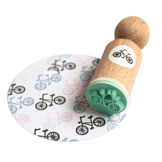 Mini stempel fiets, Miss Honeybird