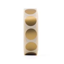 Sticker rond mat goud, Wold