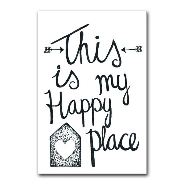 "Kaart ""This is my happy place"" BDDesigns"