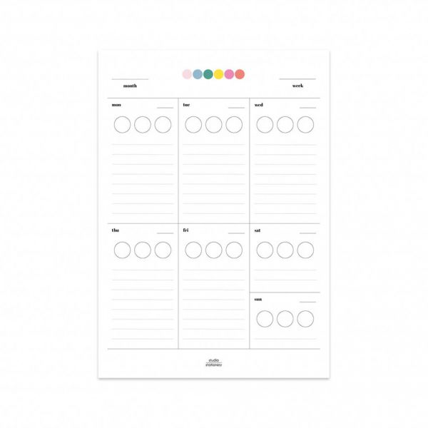 Sticker planner A5, Studio Stationery