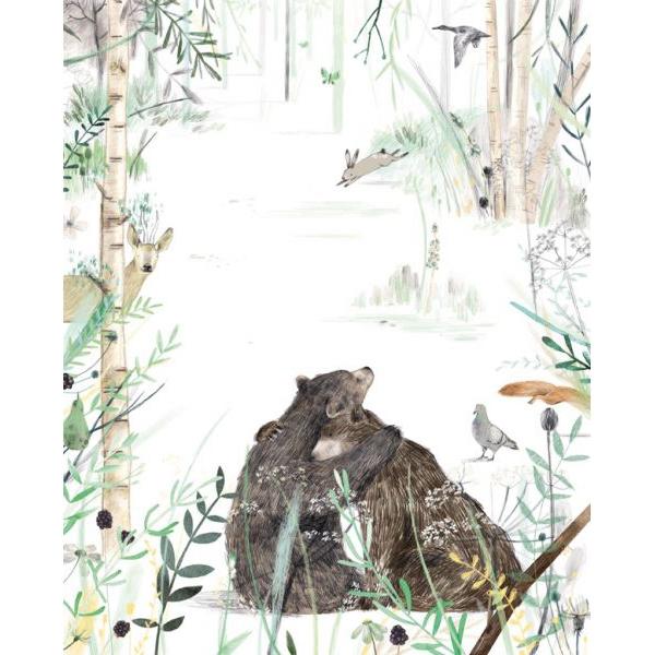 Kaart knuffelende beren, Ruth Hengeveld