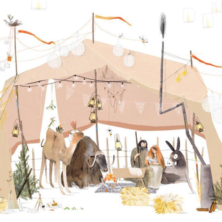 A5 Kerstkaart kerststal, Ruth Hengeveld