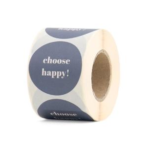 Sticker Choose happy grijs