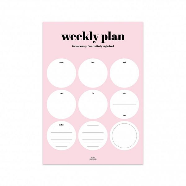 Weekly plan, Studio Stationery