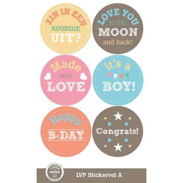 Stickervel A kleur LVP