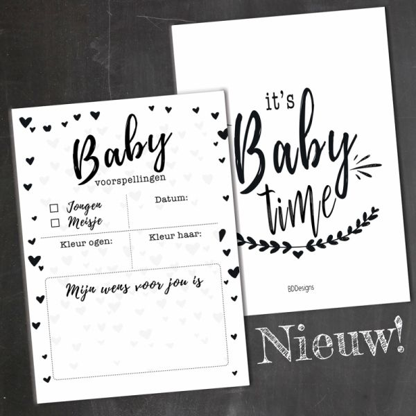 Babyshower kaarten set, BDDesigns
