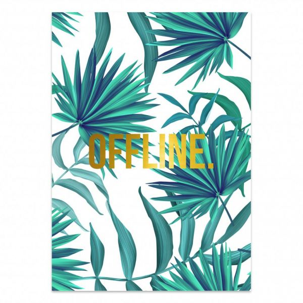 Poster offline jungle, Studio Stationery