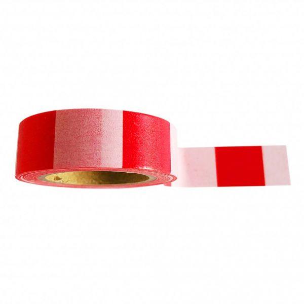 Washitape rood-rose gestreept, Studio Stationery