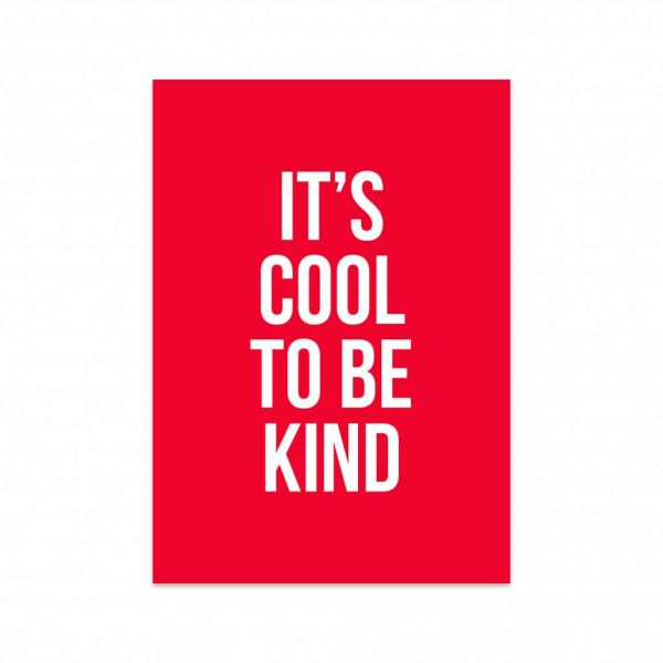 Kaart Cool to be kind, Studio Stationery