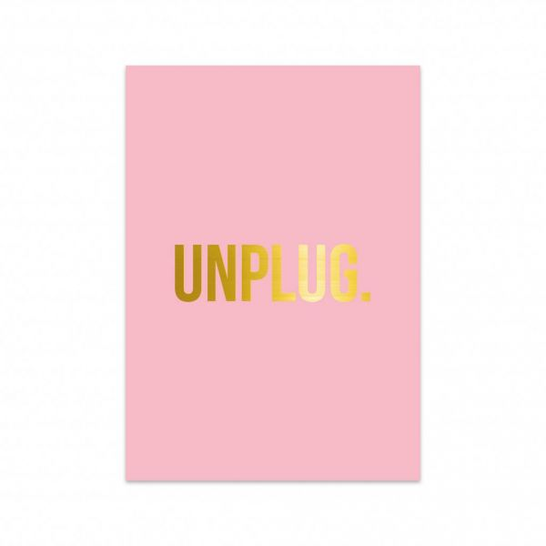 Kaart Unplug, Studio Stationery