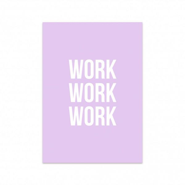 Kaart Work work work, Studio Stationery