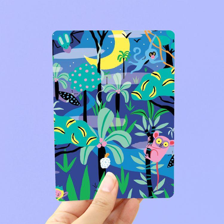 Kaart Night Jungle, Marijke Buurlage Illustration