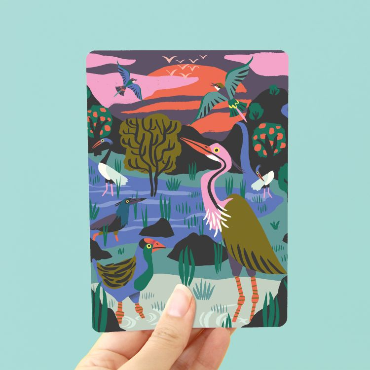 Kaart Vogelreservaat, Marijke Buurlage Illustration