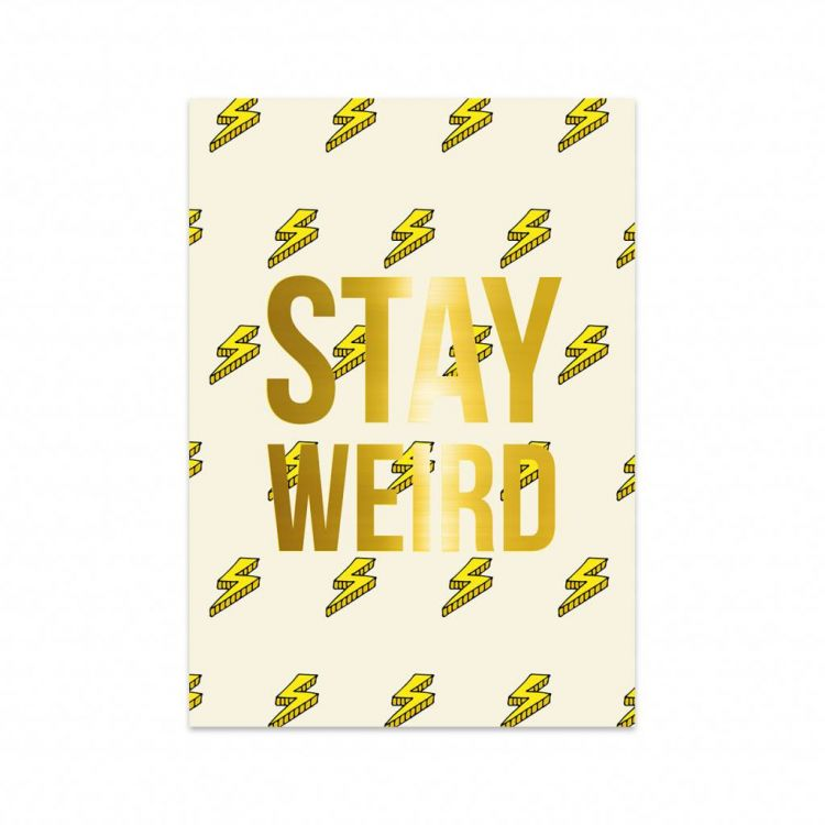Kaart Stay Weird, Studio Stationery