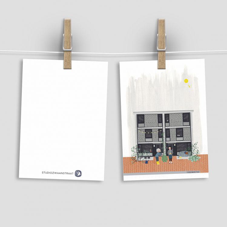 Kaart kopje suiker, Studiozwaanstraat