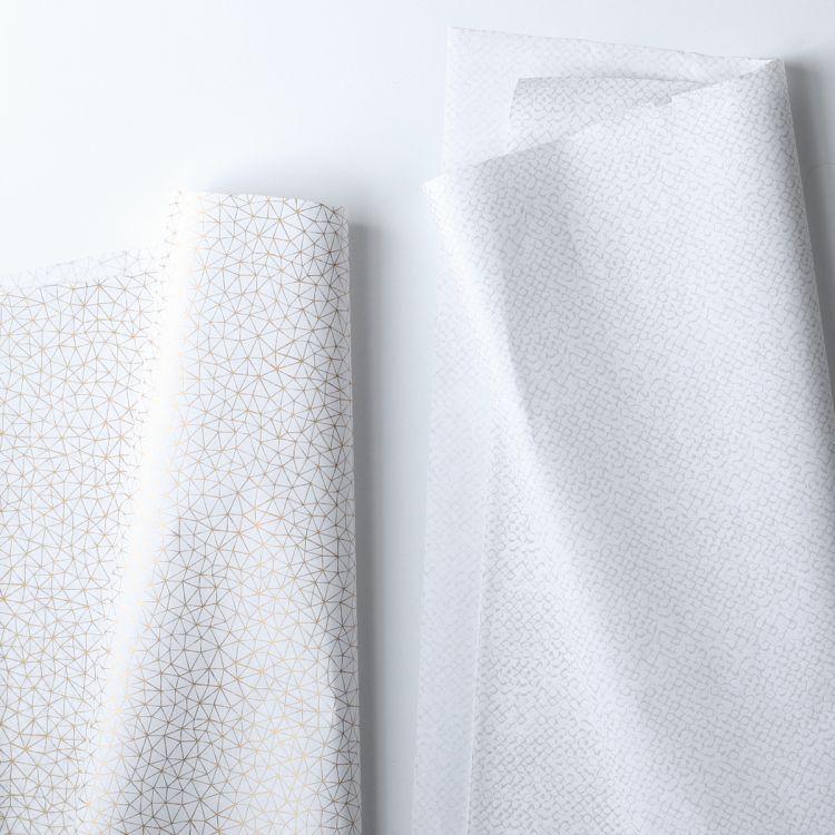 Zijdevloeipapier grijs of goud patroon