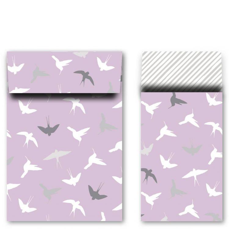 Zakje vogeltjes rose klein/middel