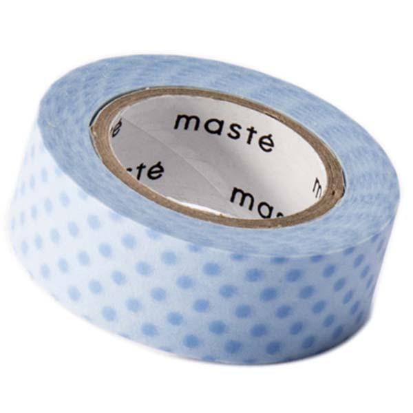 Beschrijfbaar maskingtape blauwe stip Masté