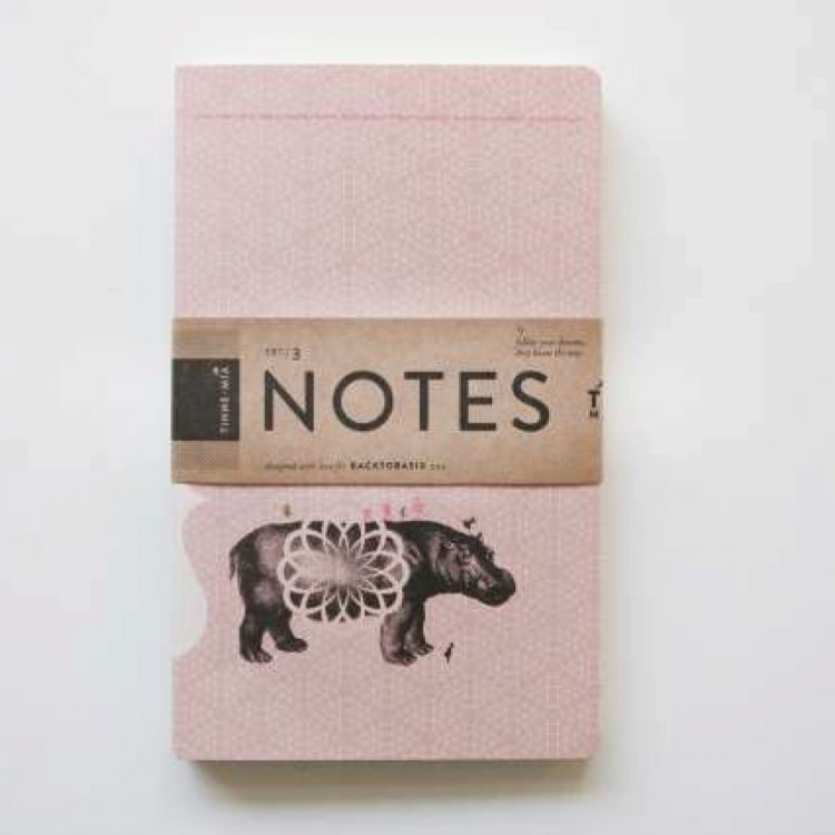 Set 3 notitieboekjes Tinne+Mia