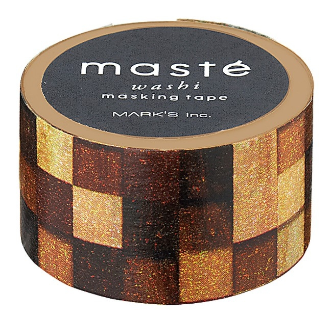 Maskingtape hout patroon, Masté