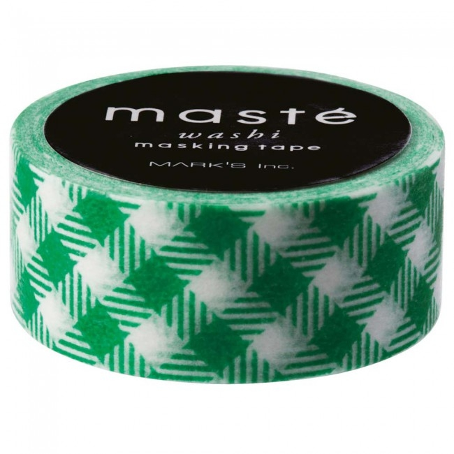 Masking tape groen geruit, Masté