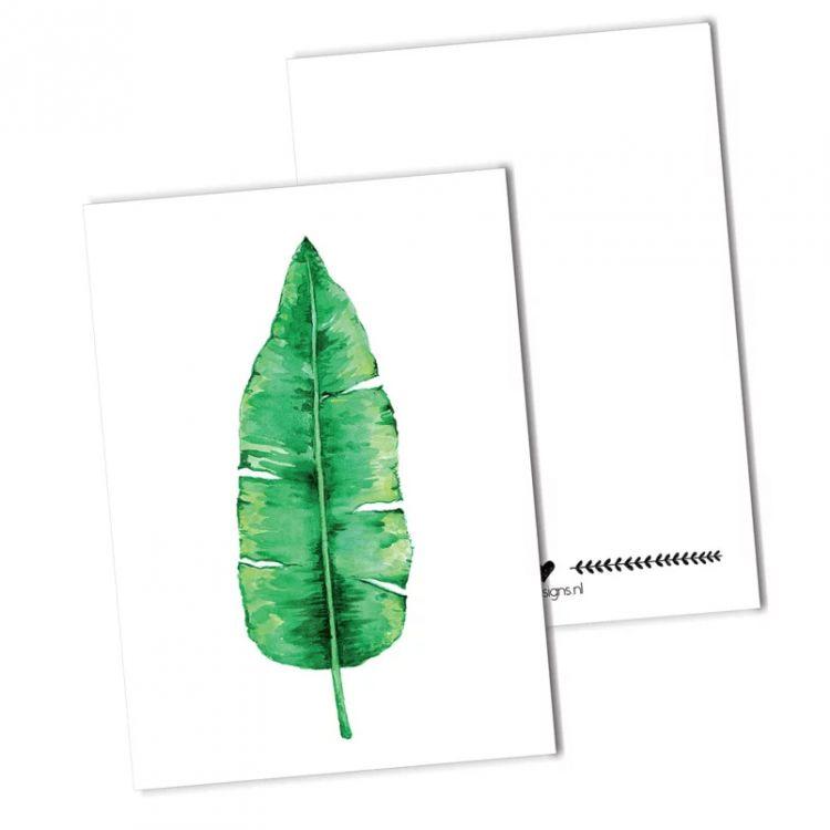 Kaart bananenblad, BDDesigns