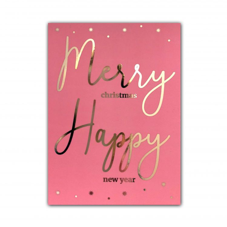 Kerstkaart Merry Happy, LVP