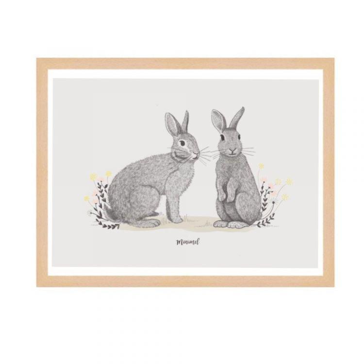 A4 poster konijntjes Minimel