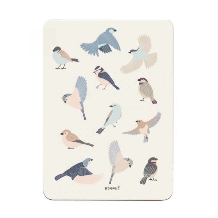 Kaart vogeltjes Minimel