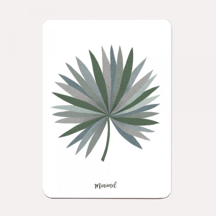 Kaart palmblad Minimel