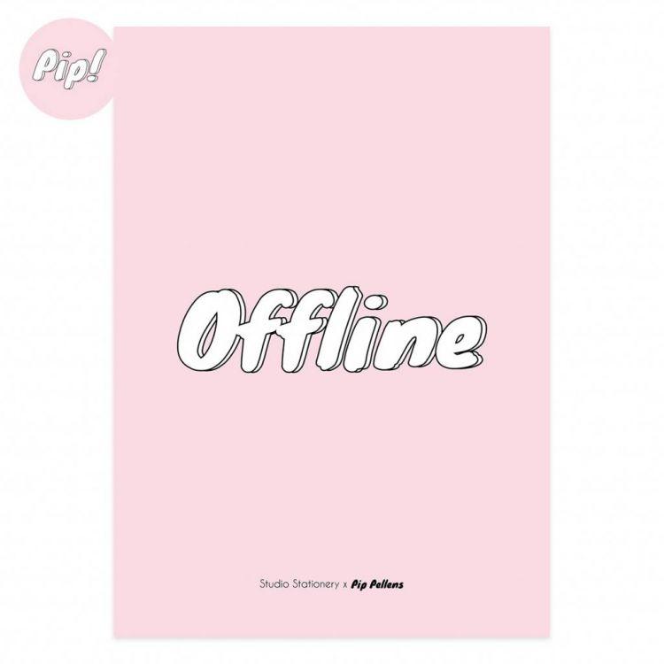 Poster offline rose Pip Pellens, Studio Stationery