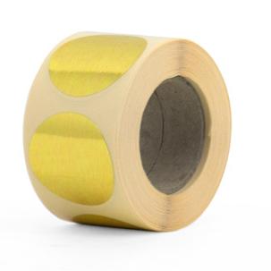 Ronde sticker goud 60mm