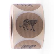 Sticker luipaard kraft