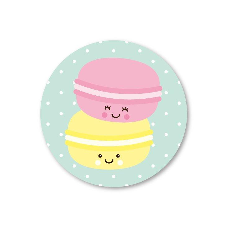 Sticker macarons, Studio Schatkist