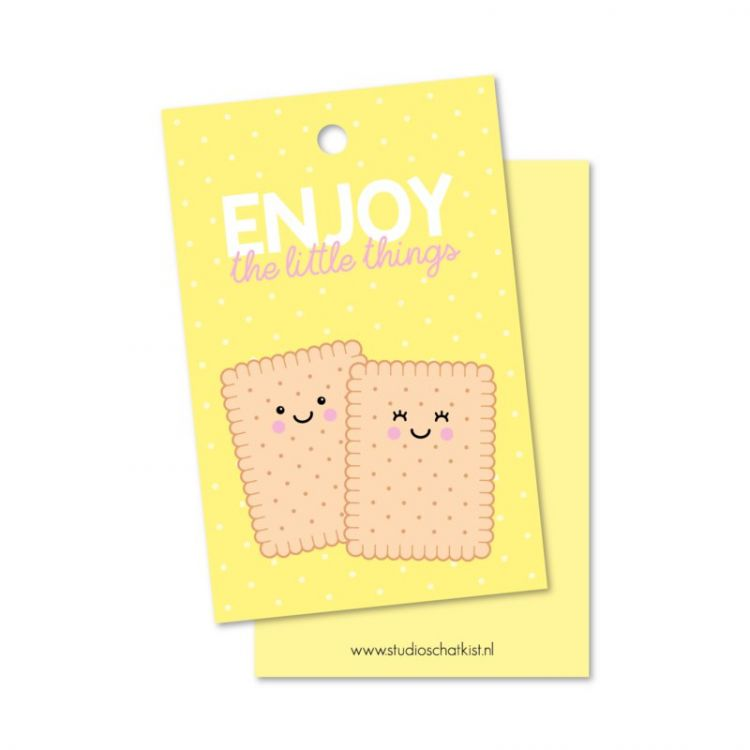 Cadeaulabel enjoy cookie, Studio Schatkist