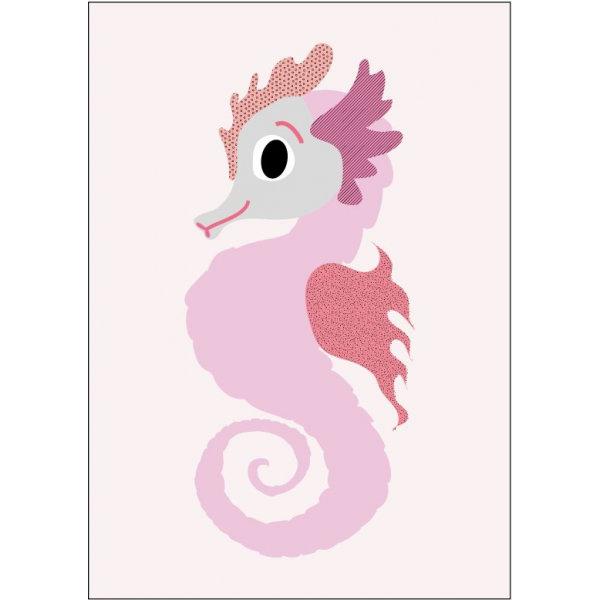 Sparkling Paper poster A4, rose zeepaardje