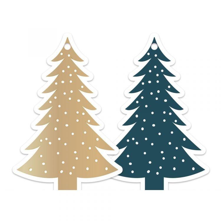 Kerstboom tag of label, HOP