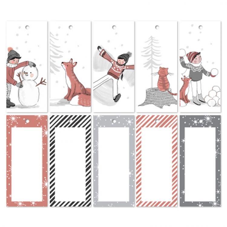 Setje cadeaulabels Kerstmis (recht)